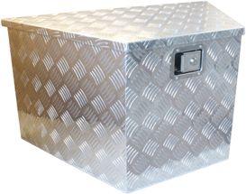 ALU værktøjskasse til trailer med skrå kant - 894/406 x 485 x 460