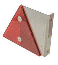 Refleksplade Med Rød Trekant Venstre + Magnet På Siden