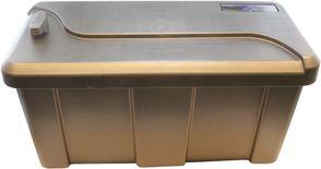 Værktøjskasse til trailer - Kongeaa model - Endevendt låg - 550 x 250 x 294