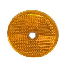 Gul rund refleks Ø:60 mm
