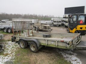 Ifor Williams GP 126 GM m/alubund og hydraulisk rampe