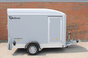 "Debon Boxtrailer RC300 ""Ply - m/side dør - Lys grå"