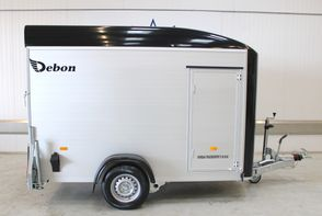 Debon Boxtrailer RC300 - Sort - m/Alu sider - m/side dør