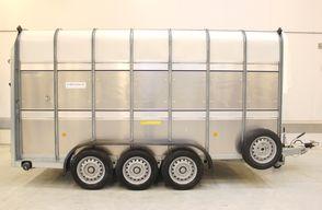 Ifor Williams TA510 14x7 - 3 aksler - Væskeops.tank + vindskærm