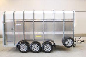 Ifor Williams TA510 14x7 - 3 aksler - enkelt dæk - RD + vindskærm