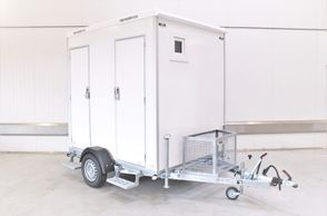 Kongeaa T240 - 2 x Toiletmobil Toiletvogn med Vandskyld