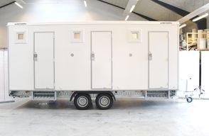 Kongeaa T518 - 3 x Toilet-Badmobil 3 x Badeværelser Toiletvogn